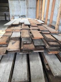 Old grain elevator reclaimed wood flooring